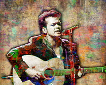 John Mellencamp Poster, John C Mellencamp 3  Gift, John Mellencamp Colorful Layered Tribute Fine Art