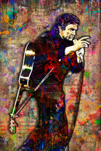 Johnny Cash Poster, Johnny Cash Portrait Gift, Johnny Cash Tribute Fine Art