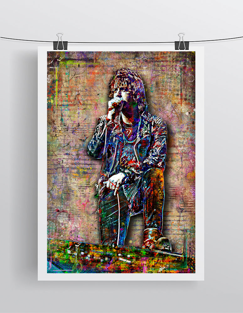 Julian Casablancas of The Strokes Poster, The Strokes Tribute Fine Art