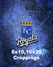 Kansas City Royals Poster, Kansas City Royals Artwork Gift, KC Royals Layered Man Cave Art