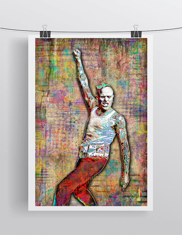Keith Flint Poster 2, Keith Flint of Prodigy Gift, Prodigy Tribute Fine Art