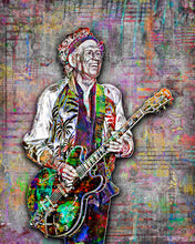 Keith Richards Grey Poster, Rolling Stones & Keith Richards 2 Tribute Fine Art