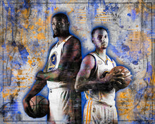 Golden State Warriors Kevin Durant Steph Curry Poster, Warriors Print, Warriors Art