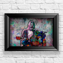 Kurt Cobain Poster, Kurt Cobain of Nirvana Gift, Kurt Cobain Colorful Layered Tribute Fine Art