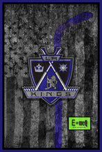 Los Angeles Kings Hockey Flag Poster, LA Kings Hockey Flag Print, Los Angeles Kings Man Cave Art, LA Kings
