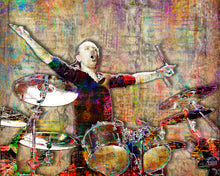 Lars Ulrich Poster, Metallica Portrait Gift, Metallica Colorful Layered Tribute Fine Art
