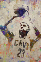 Lebron James Poster, Lebron James Gift, Lebron James Colorful Layered Tribute Fine Art