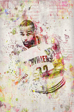 Lebron James Poster 2, Lebron James Gift, Lebron James Colorful Layered Tribute Fine Art