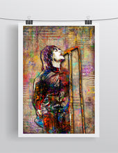 Liam Gallagher of Oasis Poster, Oasis Tribute Fine Art