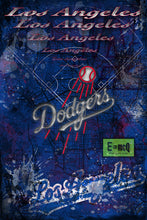 Los Angeles Dodgers Poster, Los Angeles Dodgers Artwork Gift, Dodgers Layered Man Cave Art