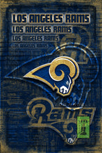 Los Angeles Rams Football Poster, LA Rams Artwork, Los Angeles Rams in front of LA Map, RAMS NFL Gift