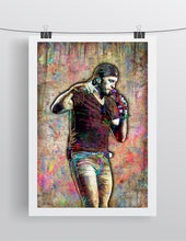 Luke Bryan Poster, Luke Bryan Country Gift, Luke Bryan Colorful Layered Tribute Fine Art