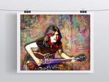 Malcolm Young Poster, Malcolm Young of AC/DC Gift, Malcolm Young Colorful Layered Tribute Fine Art