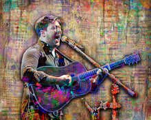 Mumford and Sons Poster, Marcus Mumford Tribute Fine Art
