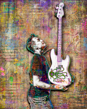 Mark Hoppus of Blink 182 Poster, Blink 182 Tribute Fine Art