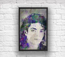 Michael Jackson Poster, Michael Jackson Portrait Gift, Michael The King of Pop Colorful Layered Tribute Fine Art