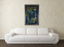 University of Michigan Wolverines Poster, Wolverines Gift, Michigan Man Cave, University of Michigan Print