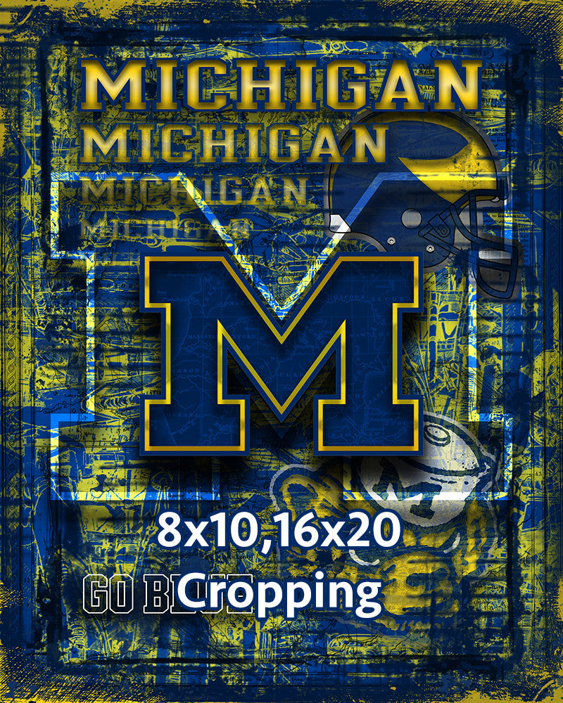 University Of Michigan Wolverines Poster Wolverines Gift