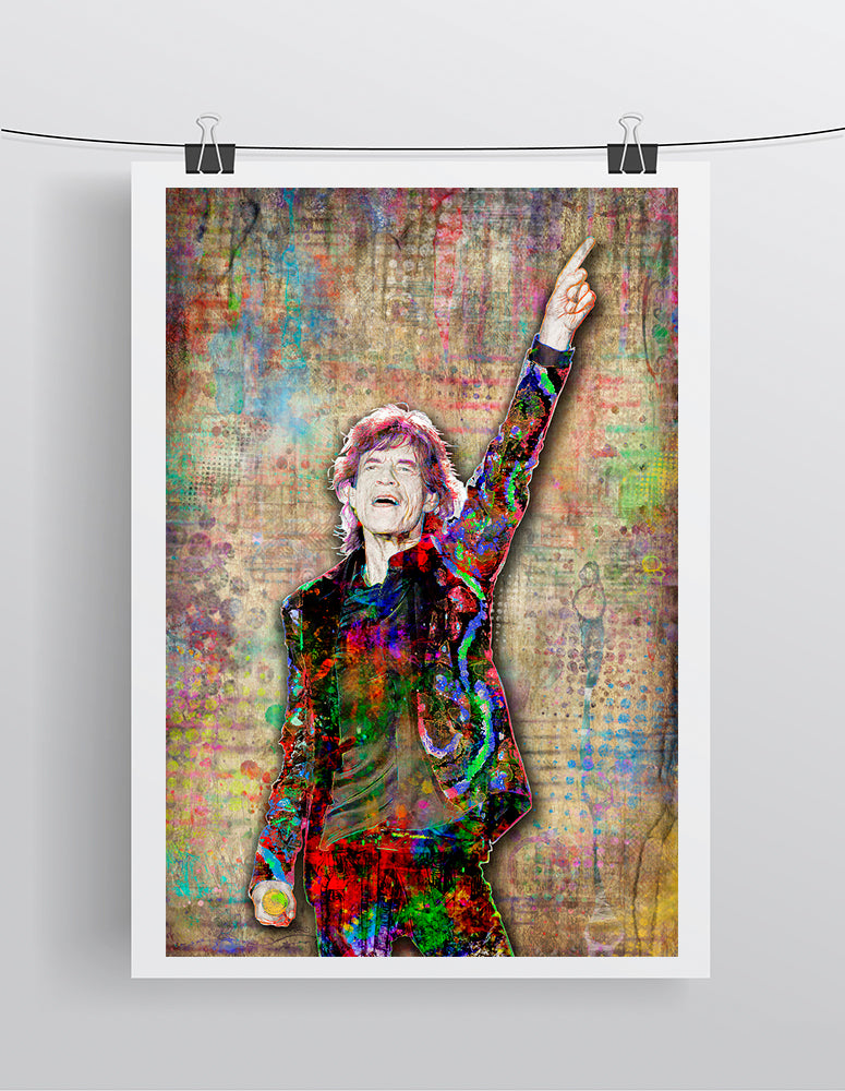 Mick Jagger Rolling Stones Poster, Rolling Stones Gift, Mick Jagger Tribute Fine Art