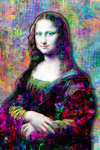 Mona Lisa Poster, Mona Lisa Gift,Mona Lisa Colorful Layered Tribute Fine Art
