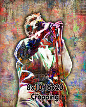 Morrissey of Smiths Poster, Morrissey Gift, Morrissey Colorful Layered Tribute Fine Art