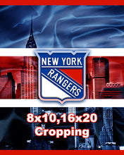 New York Rangers Hockey Poster, New York Rangers Print, NY Rangers Man Cave Art