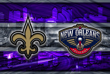 New Orleans Sports Teams Poster, New Orleans Sports Print, New Orleans Saints, New Orleans Pelicans, LSU Tigers