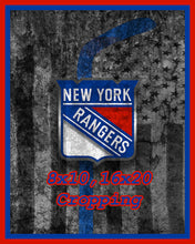 New York Rangers Hockey Flag Poster, New York Rangers Flag Print, NY Rangers Man Cave Flag Art