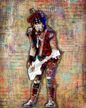 Nikki Sixx Poster, Motley Crue Gift, Nikki Sixx of Motley Crue Colorful Layered Tribute Fine Art