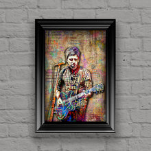 Noel Gallagher of Oasis Poster, Oasis Tribute Fine Art