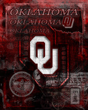 Oklahoma Poster, University of Oklahoma Gift, OU Man Cave, Sooners Print