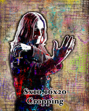 Ozzy Osbourne Poster, Ozzy Pop 3 Portrait Gift, Ozzy Black Sabbath Fine Pop Art