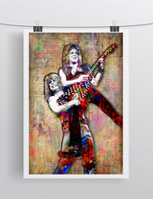 Ozzy Osbourne and Randy Rhoads Poster, Ozzy & Randy Yellow Background, Ozzy Tribute Fine Pop Art