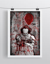 "Pennywise The Clown From ""IT"" Poster, Stephen Kings IT Portrait Gift Horror Fine Art"