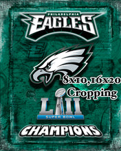 Philadelphia Eagles Super Bowl Championship 2018 Poster, Philadelphia Eagles Artwork Map Man Cave