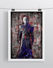 "Pinhead From ""Hellraiser""  Poster, Pinhead Portrait Gift, Hellraiser Layered Horror Fine Pop Art"