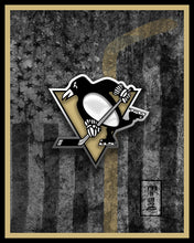 Pittsburgh Penguins Hockey Flag Poster, Pens Art, Penguins Flag Man Cave