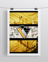 Pittsburgh Penguins Retro Logo Poster, Pittsburgh Penguins Retro Logo Hockey Gift, Pens Art, Penguins