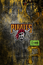 Pittsburgh Pirates Poster, Pittsburgh Pirates Artwork Gift, Pirates Layered Man Cave Art
