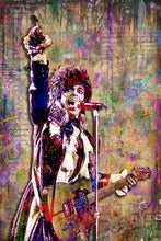 Prince Pop Art Poster, Prince Tribute, Prince Fine Art Gift, Prince Ink Purple Layered Art
