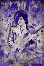 Prince Pop Art Poster, Prince Fine Art Gift, Prince Ink Purple Layered Art