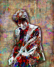 Ronnie Wood Poster, Rolling Stones Gift, Ron Wood Tribute Fine Art