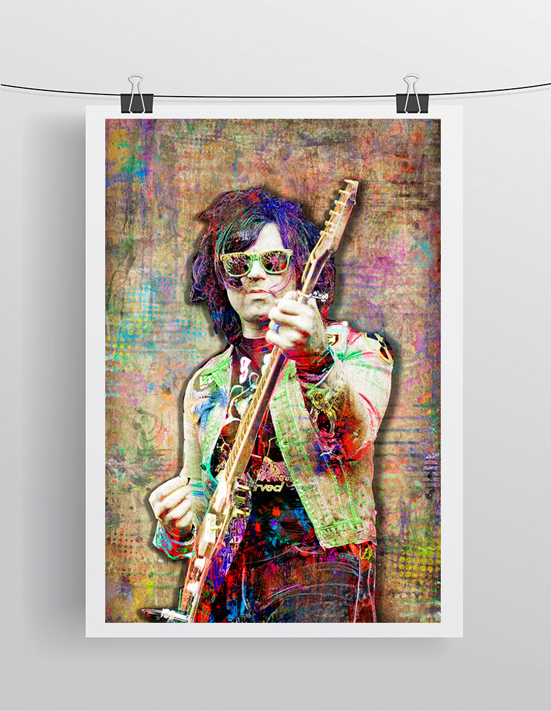 Ryan Adams Poster, Ryan Adams Gift, Ryan Adams Colorful Tribute Fine Art