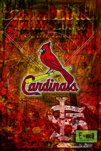 St. Louis Cardinals Poster, Saint Louis Cardinals Artwork Gift, Cardinals Layered Man Cave Art