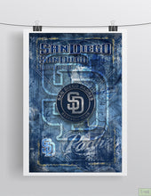 San Diego Padres Poster, San Diego Padres Artwork Gift, Padres Layered Man Cave Art