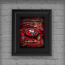 San Fransisco 49ers Football Poster, San Francisco Forty-Niners Gift, 49ers Man Cave Art
