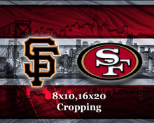 San Francisco Sports Teams Poster, San Francisco Sports Print, San Francisco Giants, San Francisco 49ers