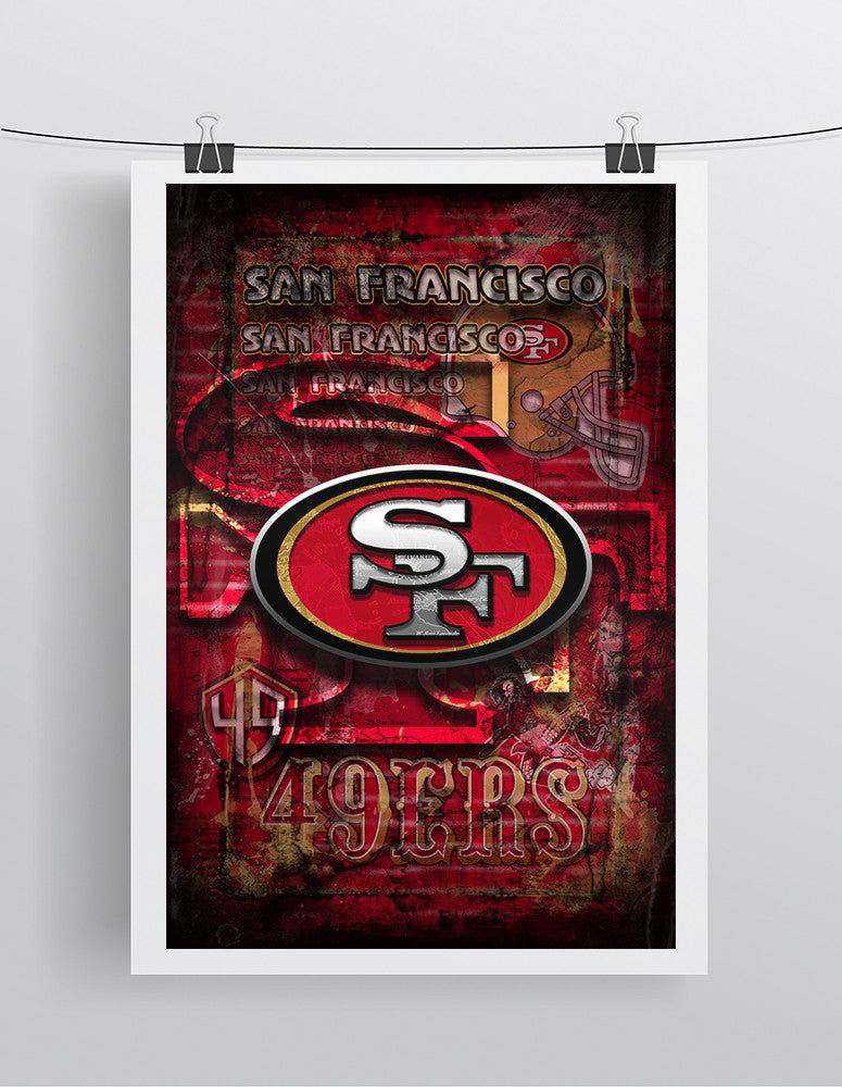 San Fransisco 49ers Football Poster San Francisco Forty Niners Gift