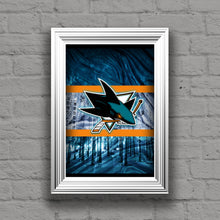 San Jose Sharks Poster, San Jose Sharks Hockey Print, San Jose Sharks Man Cave Art, San Jose Sharks