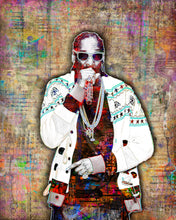 Snoop Dogg Poster, Snoop Dogg Pop Portrait Gift, Snoop Tribute Fine Pop Art